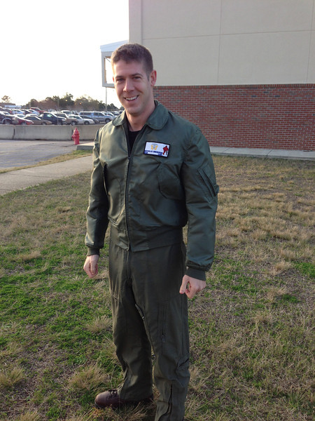 Nick before putting his gear on and heading out for his last flight of Primary