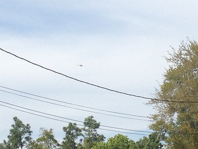 I got a text from Nick telling me they'd be flying over our house soon so of course I ran outside and waited!  There they are!!!  Their course rules (the route they take back to base) flies over the edge of our neighborhood.  It was so awesome to see this and know it's my husband flying overhead!!!!  I just wish I had more than my stupid iPhone camera to get photos with.