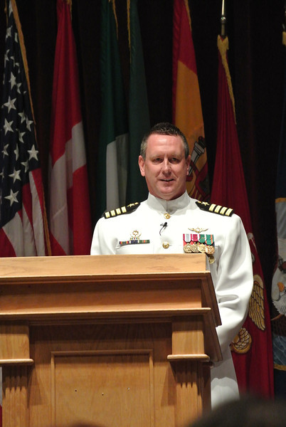 Guest Speaker, Commodore of NAS Whiting Field  August 23, 2013     Nick's Winging Ceremony at NAS Whiting Field Auditorium