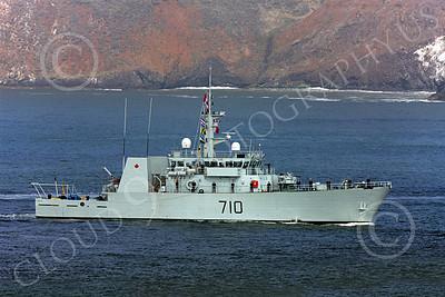 FWS 00001 Canada's Kingston-class coastal defense vessel BRANDON 710 seen approaching San Francisco Bay for Fleet Week, by Peter J Mancus