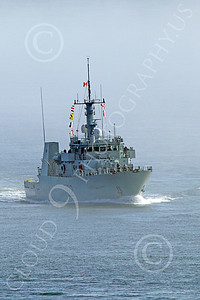 FWS 00019 Canada's Kingston-class coastal defense vessel NANAIMO 702 underway in fog in San Francisco Bay, by Peter J Mancus