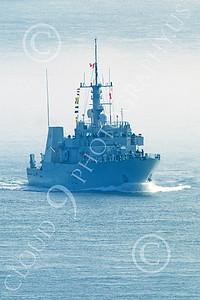 FWS 00027 Canada's Kingston-class coastal defense vessel SASKATOON 709 underway in fog in San Francisco Bay, by Peter J Mancus
