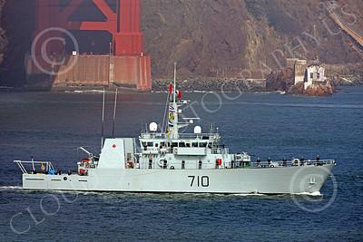 FWS 00002 Canada's Kingston-class coastal defense vessel BRANDON 710 seen in San Francisco Bay for Fleet Week after sailing under the Golden Gate Bridge, by Peter J Mancus