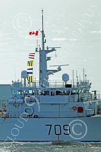 FWS 00017 Close up of the mast on Canada's Kingston-class coastal defense vessel SASKATOON 709 underway in fog in San Francisco Bay, by Peter J Mancus