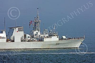 FWS 00015 Front half of Canada's HMCS OTTAWA (FFH 341), A Halifax class frigate, by Peter J Mancus