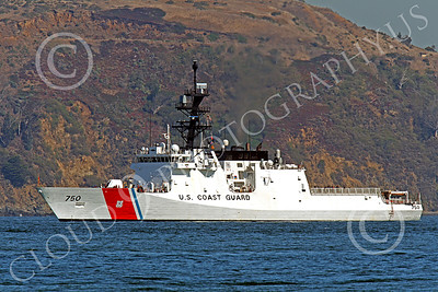 USCGM 00001 THE USCGS BERTHOLF (WMSL 750), the first USCG Legend-class maritime security cutter, inside San Francisco Bay, by Peter J Mancus