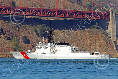 USCGM 00006 The USCGS BERTHOLF (WMSL 750), the first USCG Legend-class maritime security cutter, sails under the Golden Gate Bridge, by Peter J Mancus