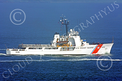USCGM 00009 The USCGC ALERT (WMEC-630) medium endurance cutter, inside San Francisco Bay, by Peter J Mancus