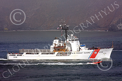 USCGM 00008 The USCGC ALERT (WMEC-630) medium endurance cutter, inside San Francisco Bay, by Peter J Mancus