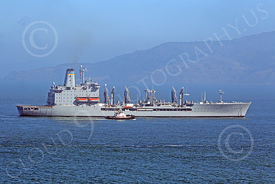 USNWS 00095 The US Navy's USS Guadalope (A0-32), A Cimarron-class fleet replenishment oiler, seen under way in San Francisco Bay, by Peter J Mancus
