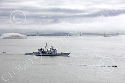 USNWS 00050 The USS Antietam (CG-54), a USN Ticonderoga-class guided missile cruiser, seen moving slowly in San Francisco Bay, by Peter J Mancus