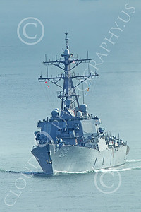 USNWS 00093 Quarter front view of the US Navy's USS Milus, (DDG-69), an Arleigh Burke-class Aegis guided missile destroyer, in San Francisco Bay, by Peter J Mancus