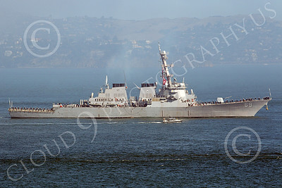 USNWS 00102 Right side profile of the US Navy's USS MILUS (DDG-69), an Arleigh Burke-class Aegis guided missile destroyer, by Peter J Mancus