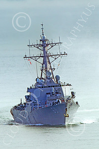 USNWS 00105 Quarter front view of the US Navy's USS Milus, (DDG-69), an Arleigh Burke-class Aegis guided missile destroyer, in San Francisco Bay, by Peter J Mancus