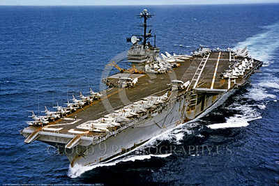 USNWS 00112 An aerial view of US Navy fossil fueled super aircraft carrier CV-62 USS Independence in service from 1959 to 1998 when sold for scrapping, warship picture by Peter B  Lewis