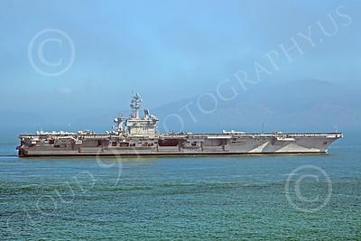 USNWS-00022A The nuclear powered US Navy aircraft carrier USS Carl Vinson CVN-70, by Peter J Mancus