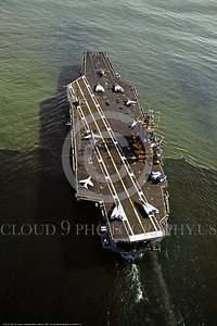 USNWS 00111 A 1987 aerial view of US Navy nuclear powered super aircraft carrier CVN-70 USS Carl Vinson in service from 1982 to date as of 2016, warship picture by Peter J  Mancus