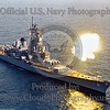 USNWS 00125 An aerial view of the US Navy's USS Iowa (BB-61) during elevated 3 16 inch guns simultaneous firing target practice off of Puerto Rico circa mid-1980's, official US Navy picture produced by Cloud 9 Photography
