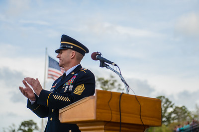 Sergeant Major of the Army A. Daniel Dailey at OSUT Graduation