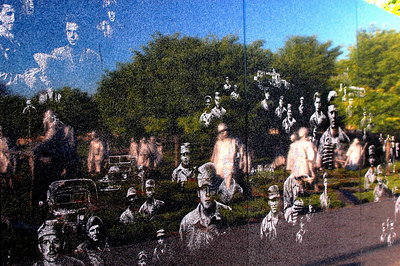 Wall reflecting the Korean Conflict (WAR) at the Korean Monument National Mall
