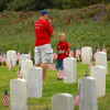Rosecrans National Cemetery; showing his respect and making a footpath for his son
