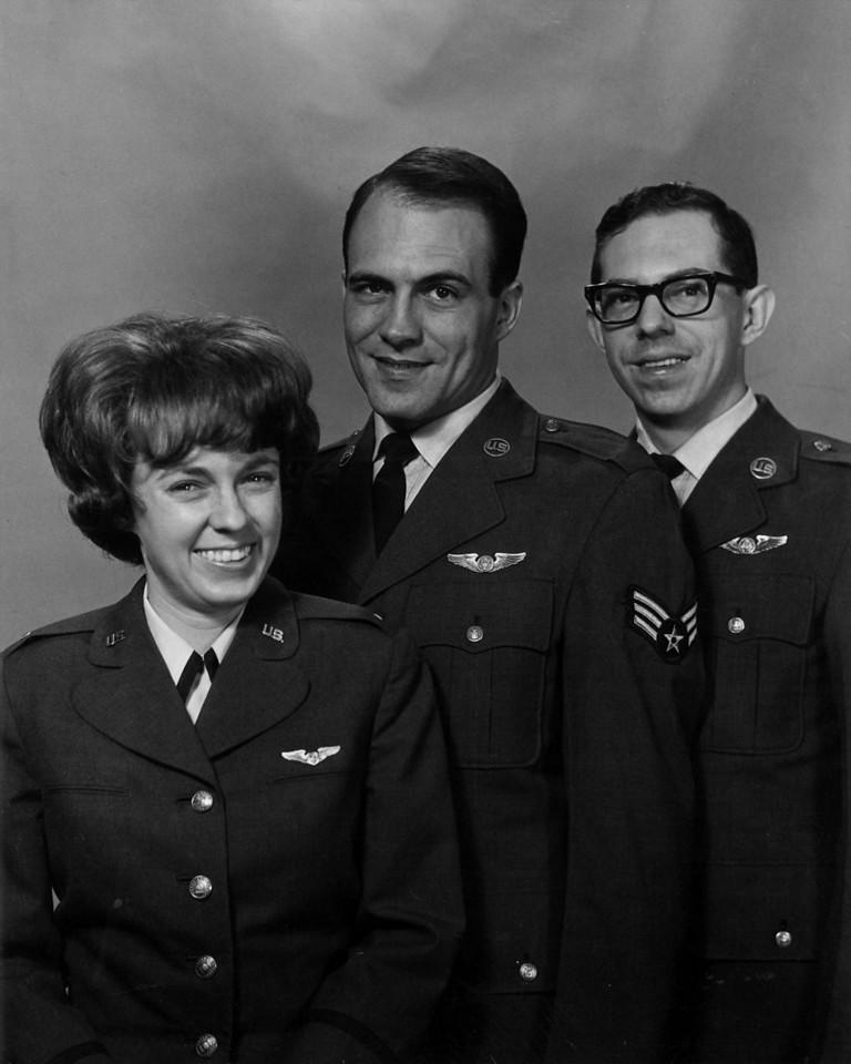 Lt  Judy Crausbay, Sgt Tom Howenstein, Airman Phil Stout 1967