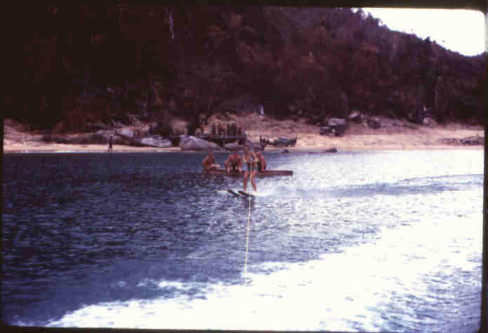 on  a day off ..skiing in the wake of a PT boat in Vung Ro Bay