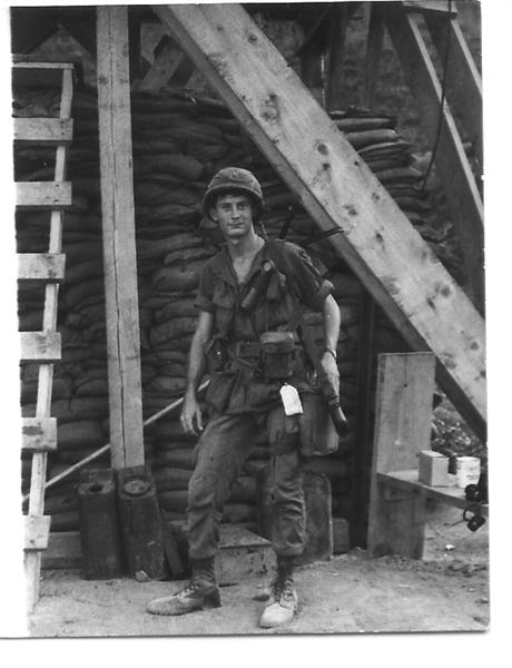 William ( Bill ) J. Barton and was at Vung Ro Bay Vietnam from Sept 1968 to Sept of 1969 ..Assigned to the 119th Trans and 854th Trans  for the United States Army. They called him Hillbilly most of the time. He worked on the docks for a while unloading ships and loading trucks. Got his legs bummed  up when a naplam bomb came crashing down on the forklift  that he  was operating... If any one has ANY  info on Bill's injuries or hospitalization at the 91st Evac..please contact me..thanks so much..Judy  judycrosby@hotmail.com