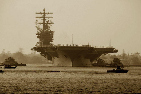 USS NIMITZ  Departs For Persian Gulf