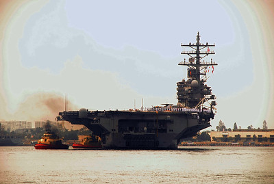 USS REAGAN WELCOME HOME!