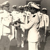 1947:  January 15th; LtCdr Ken Sederquist Becoming Commanding Officer of Fleet Aircraft Service Squadron 116 at Barber's Point in Oahu, Hawaii - presented with his US Flag