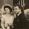 1944: August 20th,  Lieutenant and Mrs. Kenneth A. Sederquist on their Wedding Day