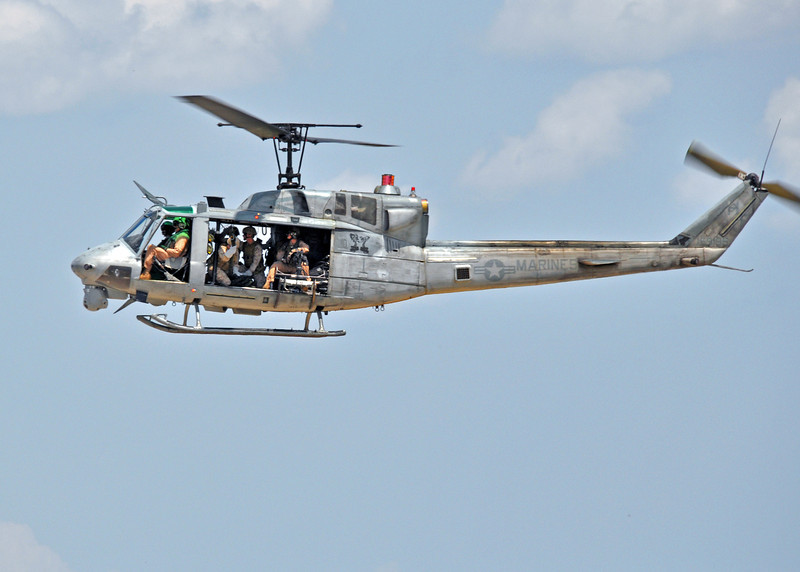 UH-1 filled with Marines - Camp Lejeune NC area, 2012.