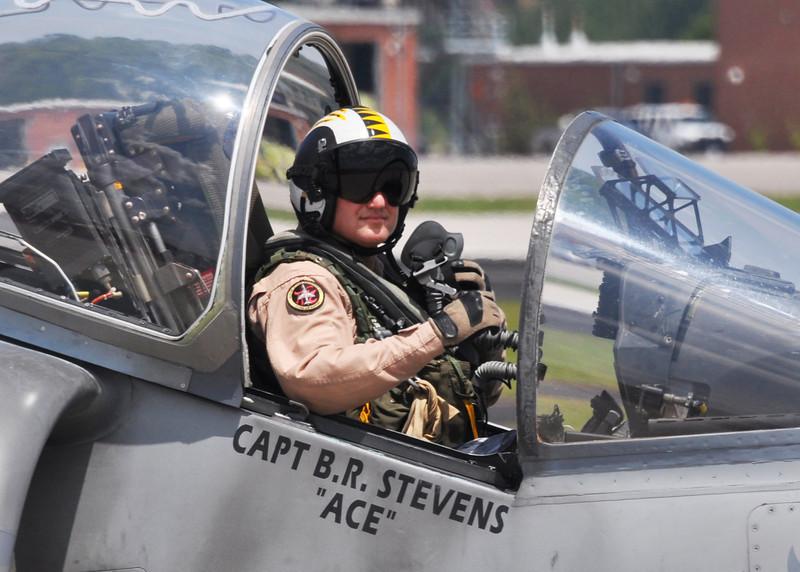 USMC AV-8B fighter pilot. 2012.
