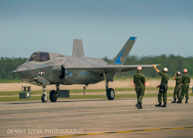 F-35 ready for takeoff. MCAS Cherry Point 2018