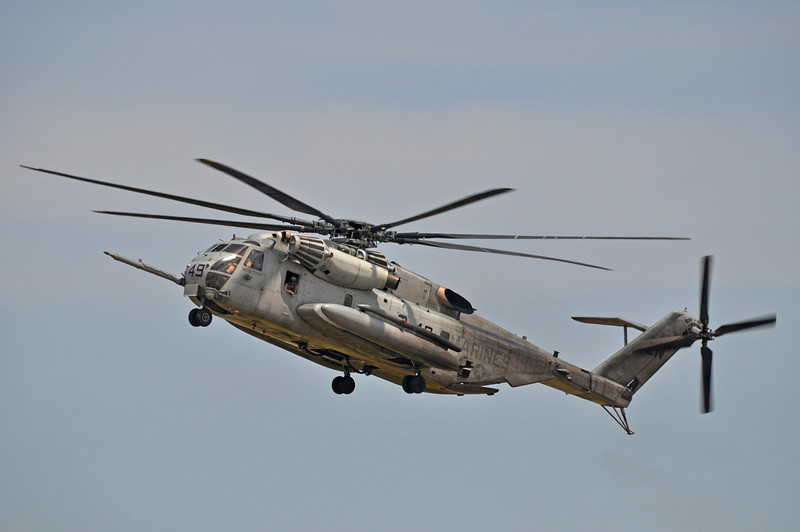 USMC CH-53 operating near MCAS New River, NC. 2012