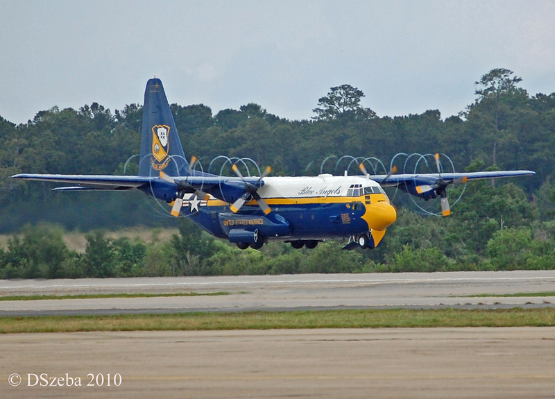 "Blue Angels support C-130, named ""Fat Albert"". MCAS New River. 2010."