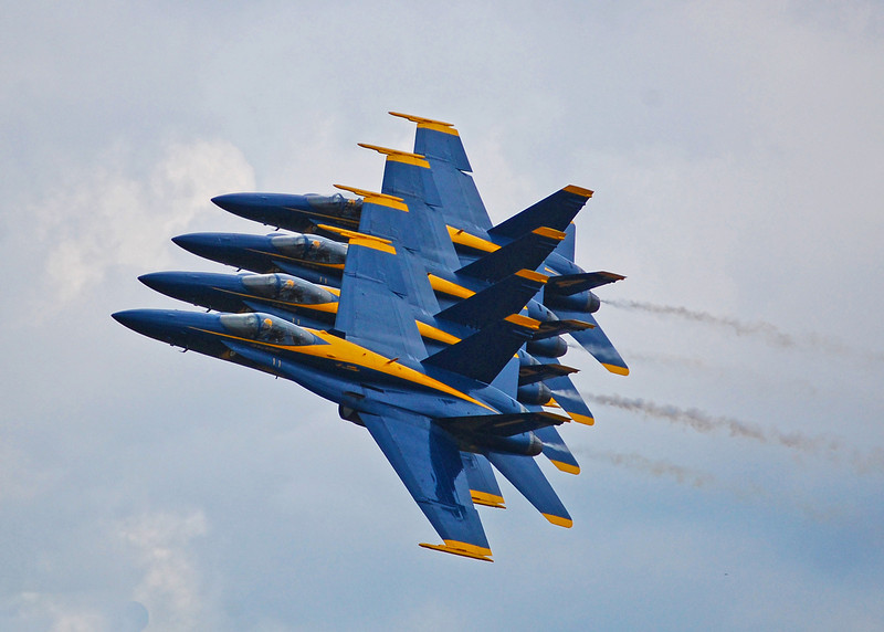 Blue Angels close formation. 2010