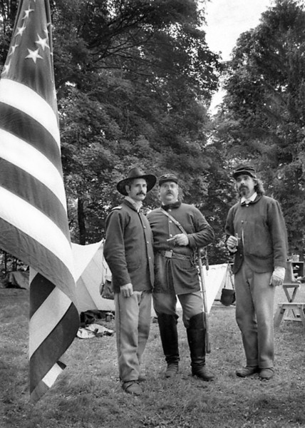 Civil War re-enactors. Hyde Park, NY.
