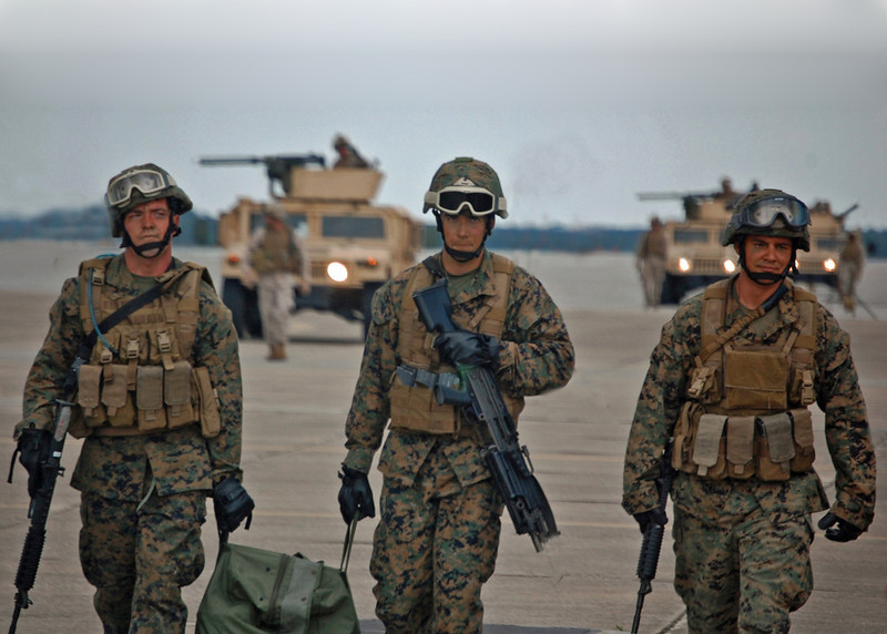 US Marines during North Carolina exercises.