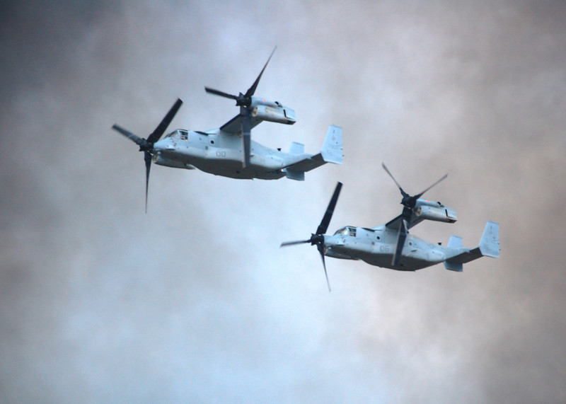 MV-22 Osprey during practice operations - Camp Lejeune, NC. 2010