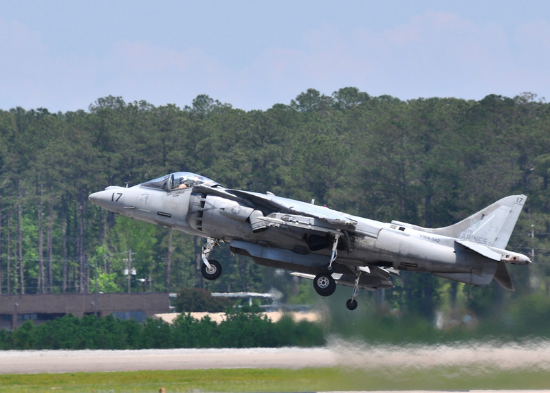 AV-8B Harrier taking off from MCAS Cherry Point, NC 2012.