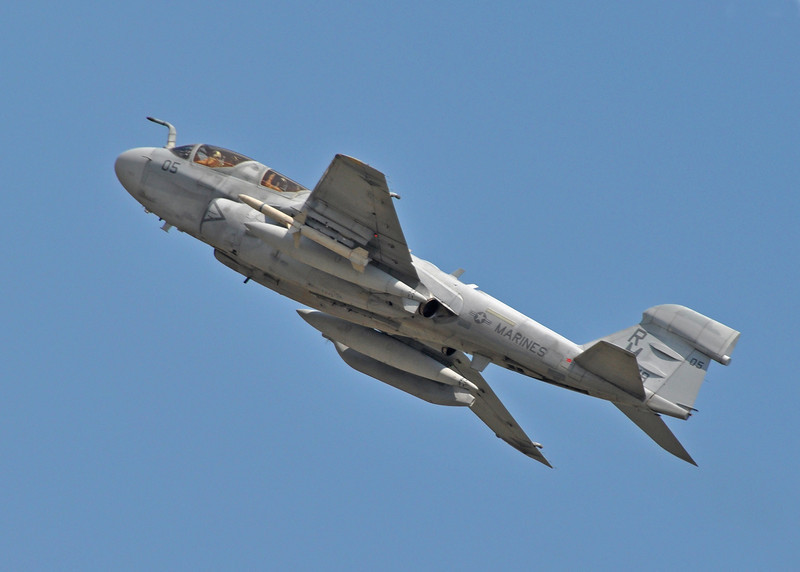 EA-6B Prowler over MCAS Cherry Point, NC. 2012.