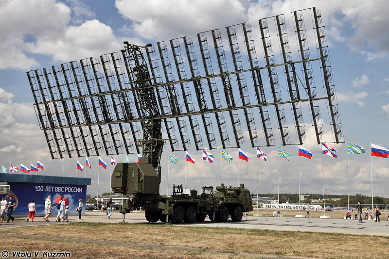 Радиолокационный комплекс 55Ж6М (55Zh6M Nebo-M mobile multiband radar system)<br /> Радиолокационный модуль метрового диапазона волн РЛМ-М комплекса 55Ж6М (Nebo-M component RLM-M radar)