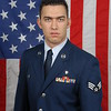 U.S. Air Force Senior Airman Rocco Piccolo III of the 106 Medical Squadron poses for an official U.S. Air Force photograph on Dec. 11 at 106th Rescue Wing, Public Affairs, F.S. Gabreski Air Force Base in New York. Piccolo is the recipient of the 2008 106th Rescue Wing Airman of the Year Award. (U.S. Air Force photo/Staff Sgt. Marcus P. Calliste)