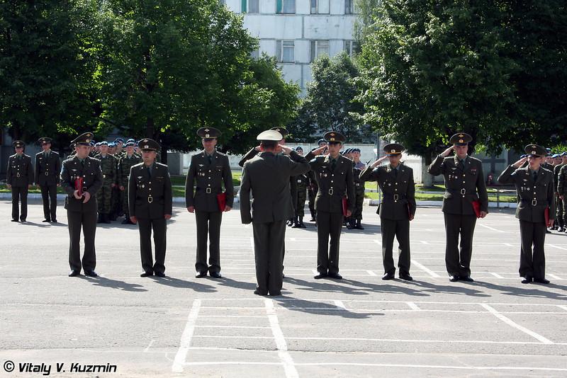 Доклад командиру полка о приведении к присяге (Report to regiment commander about the oath results)