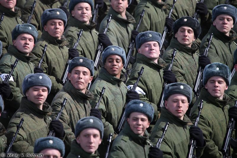 Парадный расчет железнодорожных войск России (Railway troops)