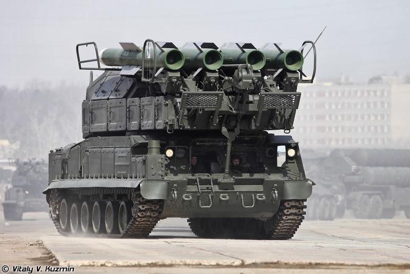 Самоходная огневая установка 9А317 ЗРК Бук-М2 (9A317 transporter erector launcher and radar for Buk-M2 air defence system)