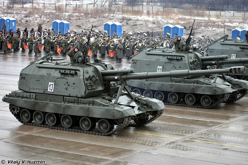 САУ 2С19М1 Мста-С (2S19M1 Msta-S self-propelled artillery)