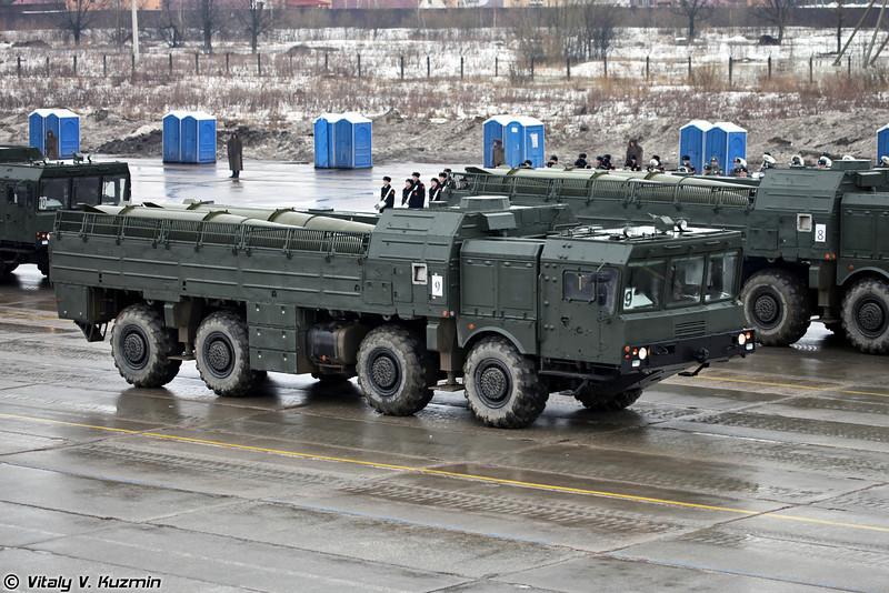 Транспортно-заряжающая машина 9Т250 комплекса Искандер-М (9T250 transloader for Iskander-M system)